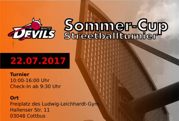 Streetballturnier am 22. Juli in Cottbus